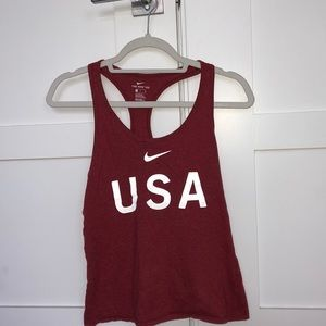 USA red Nike Tanktop